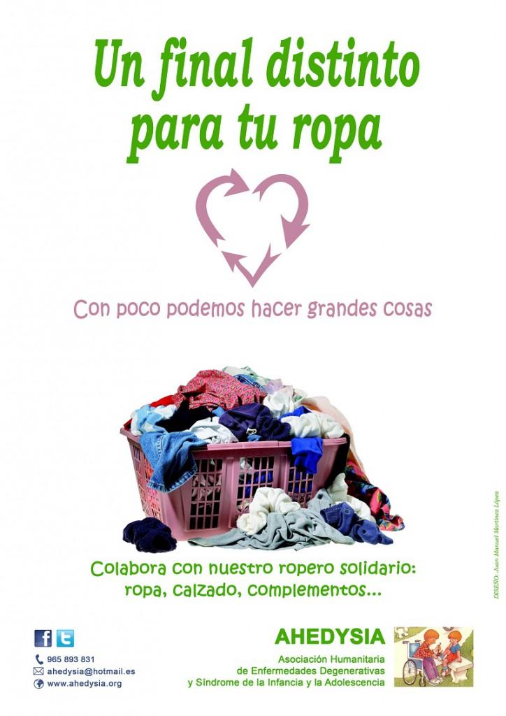 AHEDYSIA invita a donar ropa de forma altruista