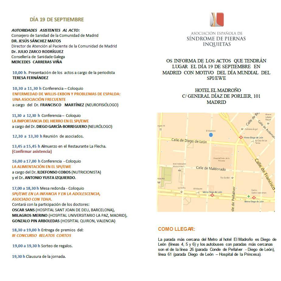 programa Día Mundial del SPI / EWE