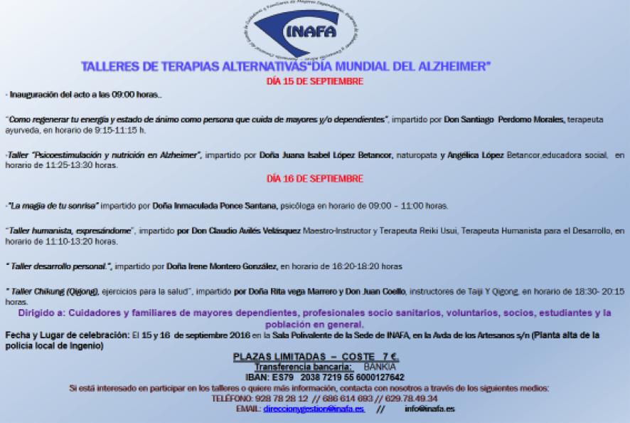 Eventos realizados por INAFA