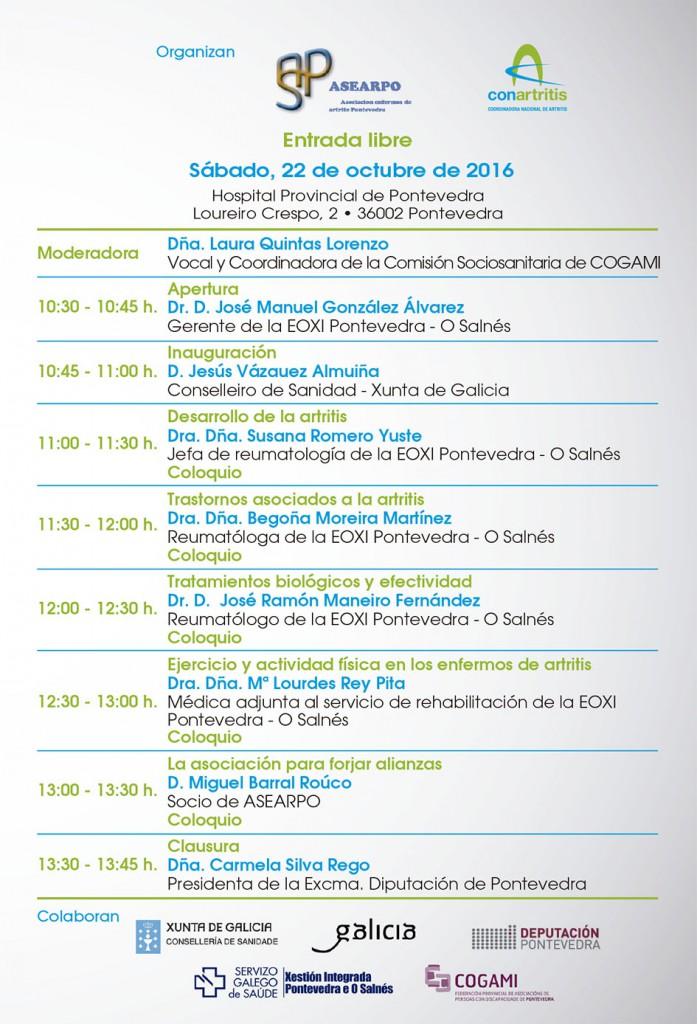 ASEARPO: XII Jornada Nacional de Artritis en Pontevedra