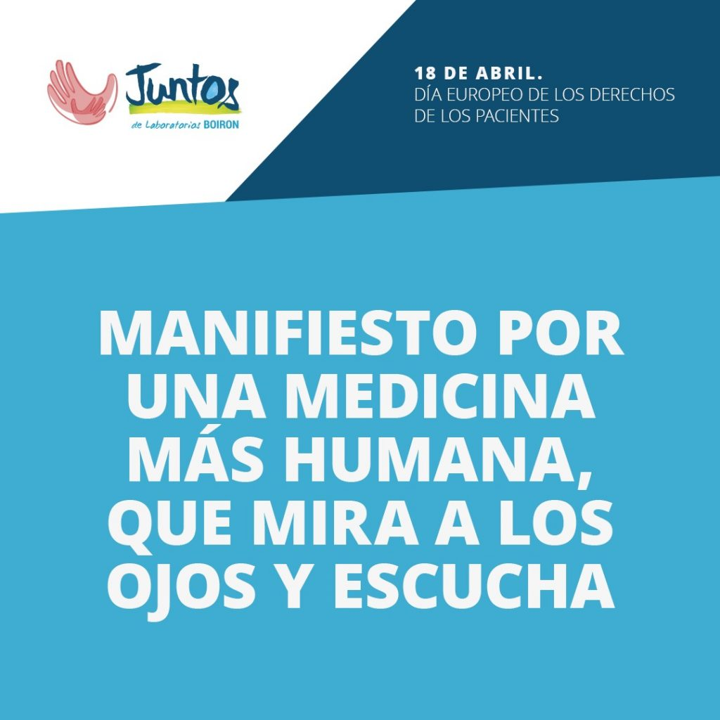 Manifiesto Día Europeo de los Derechos de los Pacientes